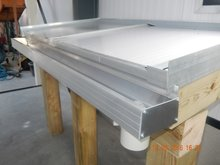 Dakgoot aluminiumgoot (Bruut)