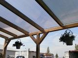 Bovenbouw dak polycarbonaat (12m breed en 4.5m diep) - Helder(lichtdoorlaten 75%)_