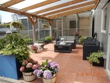 Bovenbouw dak polycarbonaat (11m breed en 4m diep) - Extra Helder(als glas)_