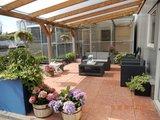 Bovenbouw dak polycarbonaat (10m breed en 3,5m diep) - Helder(lichtdoorlaten 75%)_