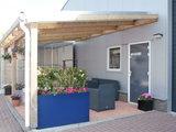 Bovenbouw dak polycarbonaat (11m breed en 2,5m diep) - Extra Helder(als glas)_