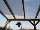 Bovenbouw dak polycarbonaat (12m breed en 2m diep) - Extra Helder._