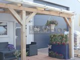 Bovenbouw dak polycarbonaat (10m breed en 1.5m diep) - Opaal_