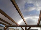 Bovenbouw dak polycarbonaat (11m breed en 1.5m diep) - Helder(lichtdoorlatend 75%)_
