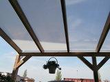 Bovenbouw dak polycarbonaat (12m breed en 1.5m diep) - Helder(lichtdoorlatend 75%)_