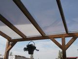 Bovenbouw dak polycarbonaat (11m breed en 1.5m diep) - Extra Helder(als glas)_