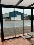 5 Glaswanden 90 cm breed 250 cm hoog totaal 442 cm breed_