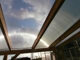 Bovenbouw dak polycarbonaat (5m breed en 1,5m diep) - Helder(lichtdoorlatend 75%)_