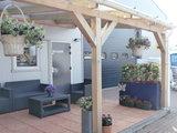 Bovenbouw dak polycarbonaat (4m breed en 3,5m diep) - Helder(lichtdoorlaten 75%)_