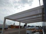 Dak Compleet Aluminium 3m breed 3.5 m diep Extra helder Ral.9001 (Creme)_