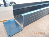 Dakgoot aluminiumgoot 1 meter (Antraciet)_
