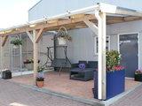 Bovenbouw plus Onderbouw 12 bij 12 dak polycarbonaat (6m breed en 3m diep) - Opaal_