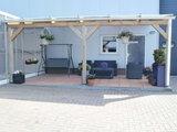Bovenbouw plus onderbouw 9 bij 9 dak polycarbonaat (4m breed en 3,5m diep) - Opaal_