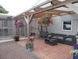 Bovenbouw plus onderbouw 9 bij 9 dak polycarbonaat (4m breed en 4m diep) - Opaal_
