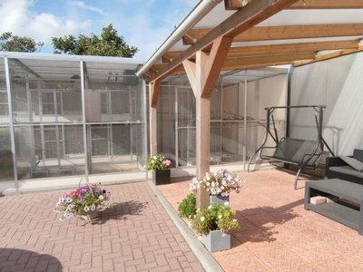 Bovenbouw dak polycarbonaat (4m breed en 4m diep) - extra Helder.