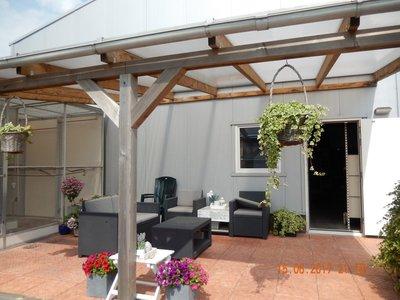 Bovenbouw dak polycarbonaat (10m breed en 4.5m diep) - Helder (lichtdoorlatend 75%)