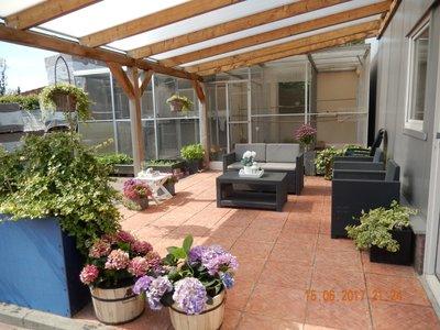 Bovenbouw dak polycarbonaat (9m breed en 3,5m diep) - Helder(lichtdoorlaten 75%)