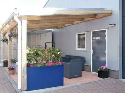 Bovenbouw dak polycarbonaat (11m breed en 2,5m diep) - Extra Helder(als glas)