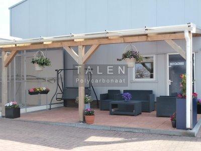 Bovenbouw dak polycarbonaat (4m breed en 1,5m diep) - Opaal