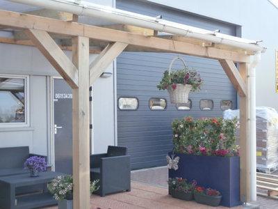 Bovenbouw dak polycarbonaat (4m breed en 1,5m diep) - Helder(lichtdoorlatend 75%)