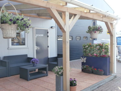 Bovenbouw dak polycarbonaat (7m breed en 3,5m diep) - Helder(lichtdoorlaten 75%)