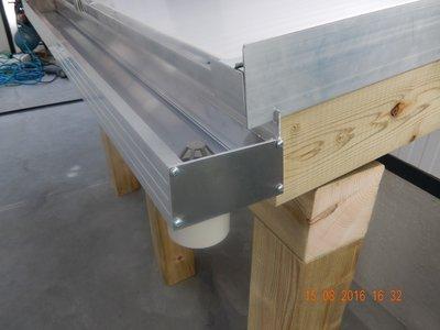 Dakgoot aluminiumgoot 1 meter (Bruut)