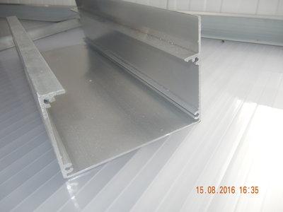Dakgoot aluminiumgoot 1 meter (Creme)