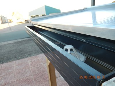 Dakgoot aluminiumgoot 1 meter (Antraciet)