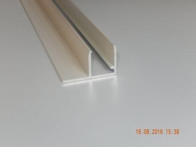 Lekdorpel met plate flens 16 mm.(Creme)