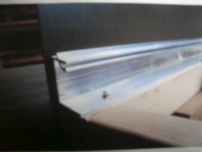 Aluminium muurprofiel met rubber (Bruut)