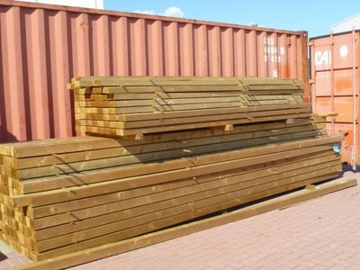 Bovenbouw plus Onderbouw 12 bij 12 dak polycarbonaat (5m breed en 3m diep) - Helder