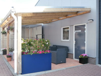 Bovenbouw dak polycarbonaat (11m breed en 2,5m diep) - Helder(lichtdoorlatend 75%)