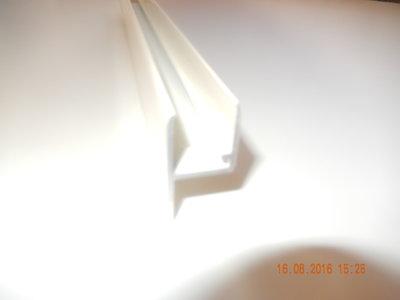 Lekdorpel met rechte flens 16 mm.(Creme)