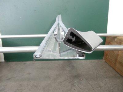 Aluminium tussenprofiel met rubber (Bruut)